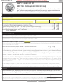 Sd Eform 1659 - Certification Of Owner-occupied Dwelling - 2009
