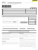 Form M-110 - Cigarette Tax Return - Hawaii Department Of Taxation