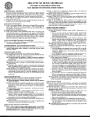 City Of Flint Income Tax Instructions For Non-resident Returns, Form F1040-n - 2004