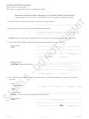 Form Reg_llp Sample - Statement Of Registration To Register As A Limited Liability Partnership - 2008