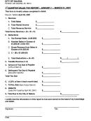 Quarter Sales Tax Report - City Of Galena - 2001