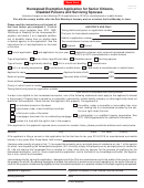 Form Dte 105a - Homestead Exemption Application For Senior Citizens, Disabled Persons And Surviving Spouses