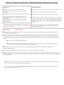 North Carolina Voter Registration Application/update Form