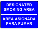No Smoking Designated Area