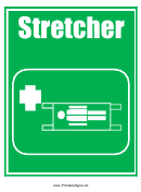 Stretcher Sign Template