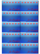 President Sign Palm Cards Template
