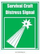 Survival Craft Distress Signal Sign Template