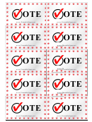 Vote Sign Palm Cards Template