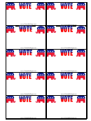 Republican Sign Palm Cards Template