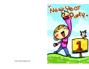 Boy Pointing In The Sky New Year Party Invitation Template