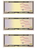 50 Dollar Play Money Template
