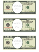 One Hundred Dollar Bill Photo Frame Template