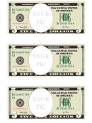 Five Dollar Bill Photo Frame Template