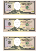 Fifty Dollar Bill Photo Frame Template