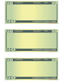 58 Dollar Bill Templates free to download in PDF