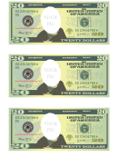 Twenty Dollar Bill Photo Frame Template