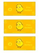 Easter Egg Hunt Five Dollar Template