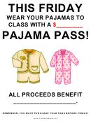 Pajama Day Fundraiser Sign - Blank