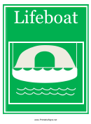 Lifeboat Sign Template