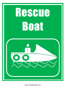 Rescue Boat Sign Template