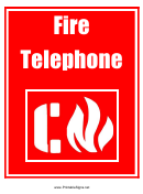 Fire Telephone Sign Template