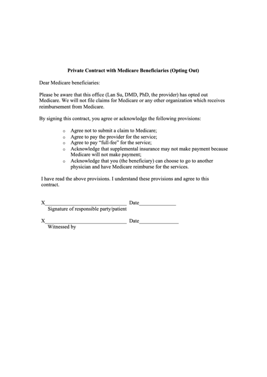 Top 16 Medicare Opt Out Form Templates free to download in PDF ...