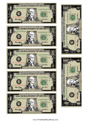 Mini-dollar Bill Template