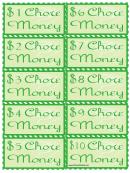 Green Chore Money Template