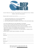Electronic Funds Transfer Authorization Form Deep Water Church