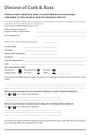 Application Form For Paid/ Volunteer Roles Involving Children, Young People And Vulnerable Adults