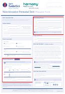 Non-invasive Prenatal Test Request Form