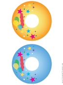 Balloons Birthday Cd-dvd Labels