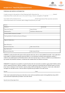 Netball Sample Form - Indemnity And Consent Form