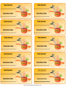 Casserole Expiration Labels Template