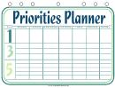 Priorities Planner