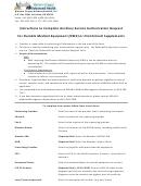 Ancillary Service Authorization Request