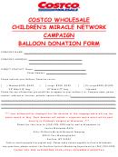 Balloon Donation Form