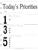 Todays Priorities Planner