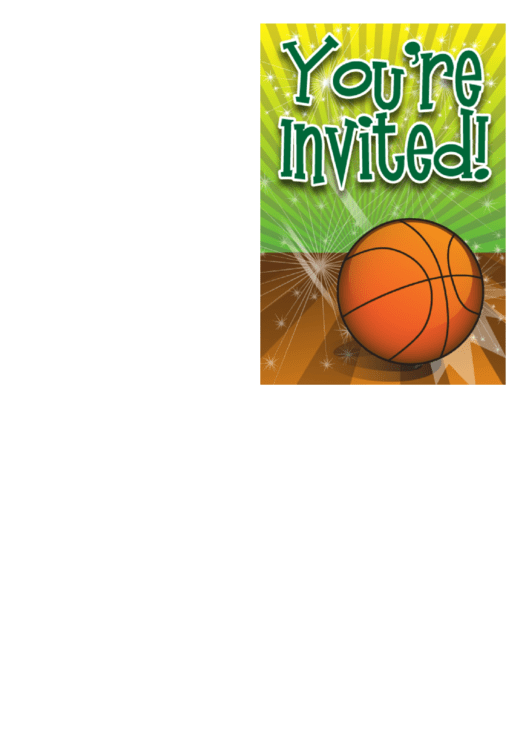 You Are Invited Basketball Printable pdf
