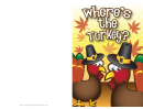 Thanksgiving Funny Turkey Card Template