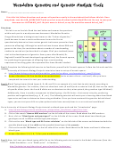 Mendelian Genetics And Genetic Analysis Tools