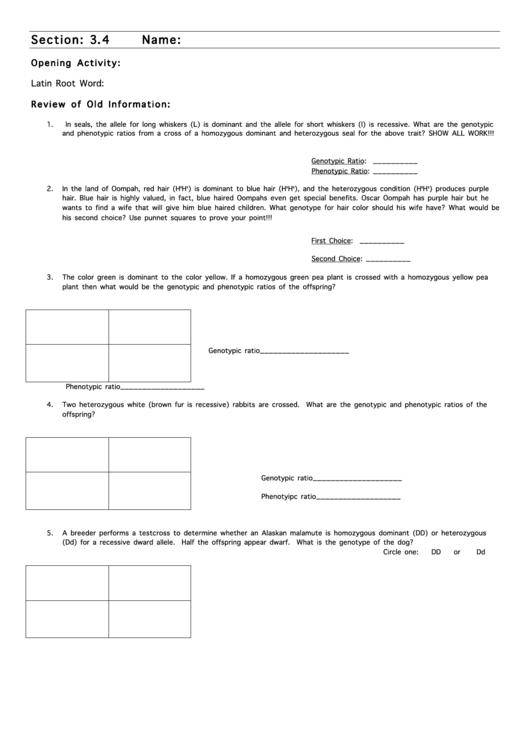Biology School Worksheet Printable Pdf Download