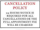 Cancellation Policy Sign