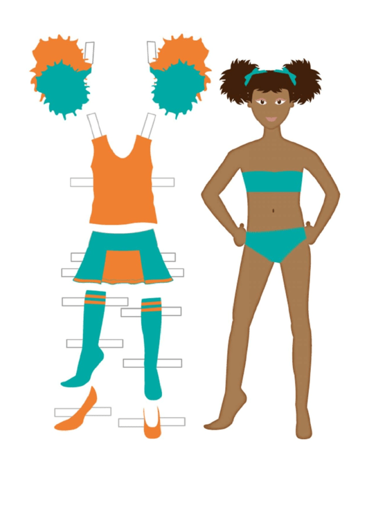 Cheerleader Paper Doll