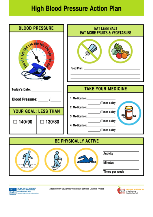 High Blood Pressure Action Plan