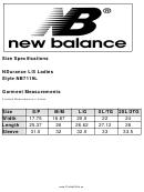 New Balancr Ndurance L/s Ladies Style Nb7119l - Size Chart