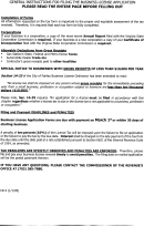 Form Cr-4 - General Instructions For Filing The Business Licnse Application