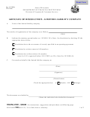 Form 510 - Articles Of Dissolution For A Limited Liability Company - Wisconsin Department Of Financial Institutions