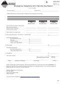 Montana Form Et911 - Emergency Telephone (911) Service Fee Return