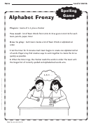 Alphabet Frenzy - Spelling Game Template